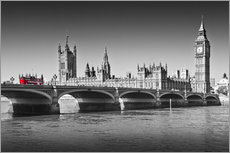 Gallery print  Westminster Bridge and Bus - Melanie Viola