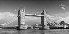Wall sticker  Tower Bridge black and white - Melanie Viola