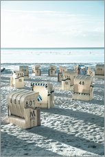 Wall sticker  beach chairs at the beach in Duhnen (North sea/Germany) - gn fotografie