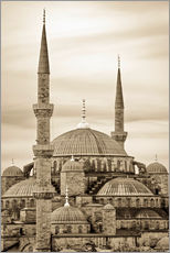 Wall Stickers  the blue mosque in sepia (Istanbul - Turkey) - gn fotografie