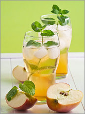 Gallery print  Apple juice with fresh mint - Edith Albuschat