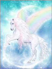 Wall sticker  Rainbow Unicorn Pegasus - Dolphins DreamDesign