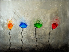 Wall Stickers  four flowers - Yannick Leniger