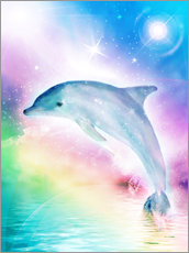 Wall sticker  Rainbow dolphin - Dolphins DreamDesign