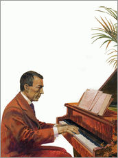 Wall sticker Rachmaninoff playing the piano