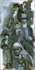 Wall sticker  Depiction of Charles Dickens' fantasy figures - Neville Dear
