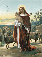 Wall sticker  The good shepherd - John Lawson