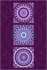 Wall sticker Mandala Collage purple