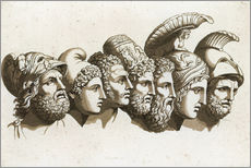 Wall sticker  The Heroes of the Trojan War - English School