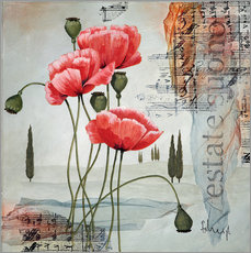 Wall Stickers   Poppies  - Franz Heigl