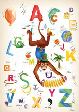 Gallery print  ABC Alphabet animals, colours and more - Heike Udes