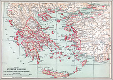 Wall sticker Map of Ancient Greece