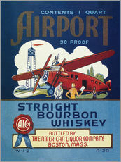 Wall sticker  Airport Whiskey Label