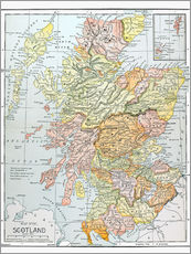 Wall sticker Map of Scotland