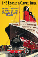 Wall sticker  Lms Express & Cunard Liner