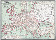 Wall sticker Map of Europe from 1812 (English)