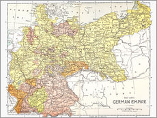 Gallery Print  Map: German Empire.