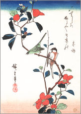Wall sticker  Flowers and Birdsin - Utagawa Hiroshige