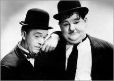 Wall sticker  Stan Laurel and Oliver Hardy
