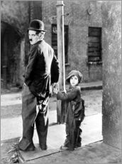 Gallery print  The Kid, Charlie Chaplin, Jackie Coogan, 1921