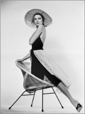 Wall sticker  Grace Kelly with hat