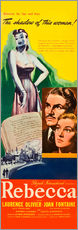 Wall sticker  REBECCA, from left: Laurence Olivier, Joan Fontaine, 1940.