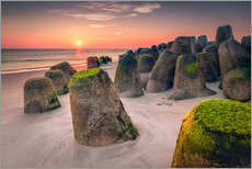 Wall sticker  Tetrapods at sunset (Hoernum/Sylt) - Dirk Wiemer