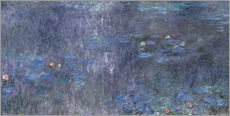 Wall sticker  Water Lilies, Reflection of trees 2 - Claude Monet