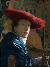 Gallery print  Girl with red hat - Jan Vermeer