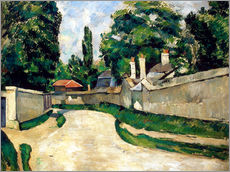 Gallery Print  Houses Along a Road - Paul Cézanne