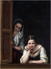 Gallery print  Women from Galicia at the window - Bartolome Esteban Murillo