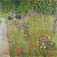 Wall sticker  Orchard with roses - Gustav Klimt