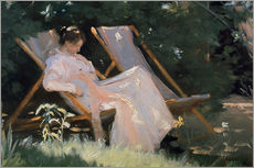 Peder Severin Kroyer - The artist's wife in the garden, detail