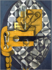 Gallery Print  Guitar, Bottle, and Glass - Juan Gris
