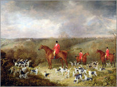 Wall sticker  Lord Glamis and his hunting dogs, 1823 - Dean Wolstenholme