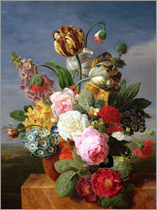 Gallery print  Bouquet of flowers in a vase - Jan Frans van Dael