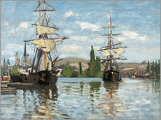 Gallery print  Ships on the Seine at Rouen - Claude Monet