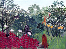 Gallery print  Tropical forest with monkeys - Henri Rousseau