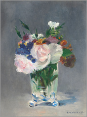 Gallery print  Flowers in a Crystal Vase - Edouard Manet