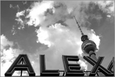 Wall sticker  Alexanderplatz Berlin monochrome - Filtergrafia