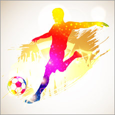 Wall sticker Football Player