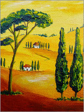 Gallery print  Tuscany Landscape 2 - Christine Huwer