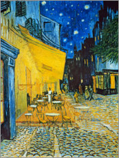 Aluminium print  Cafe Terrace at Place du Forum, Arles in the evening - Vincent van Gogh