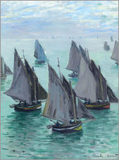 Wall sticker  Fishing Boats in Calm Waters - Claude Monet