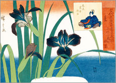 Wall sticker  Summer, irises at Yatsuhashi - Utagawa Hiroshige