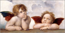 Premium poster  Two Angels, detail - Raffael