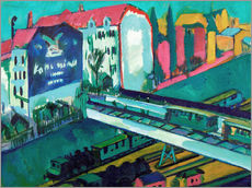 Gallery print  Tram and Train - Ernst Ludwig Kirchner