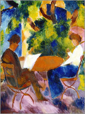 Wall sticker  Couple at the garden table - August Macke