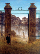 Wall sticker  The Cemetery - Caspar David Friedrich