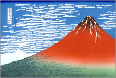Wall sticker  Mt. Fuji in clear weather - Katsushika Hokusai